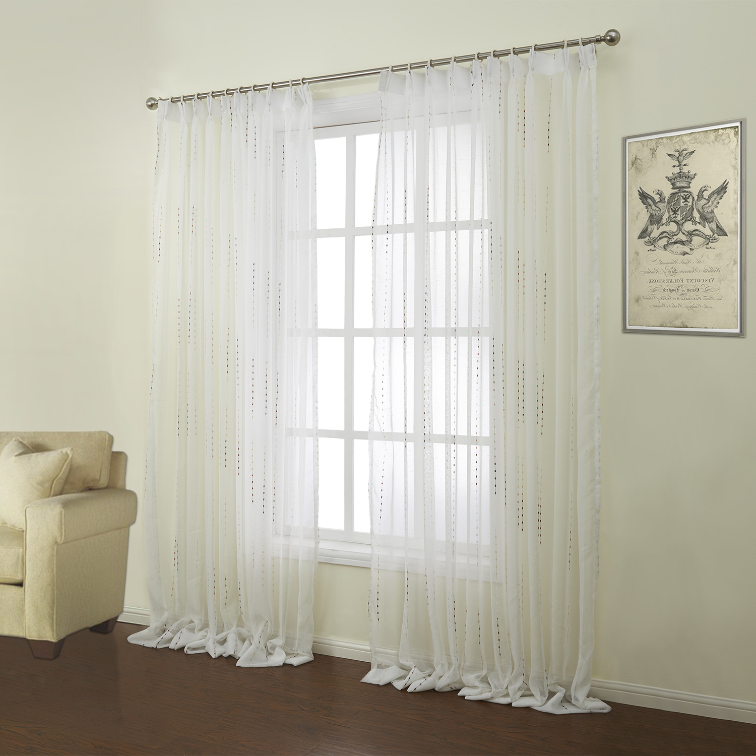 Curtains sheer curtains one panel modern jacquard white