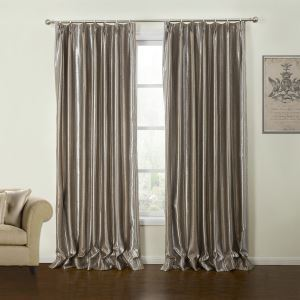 ( One Panel )  Modern Embossed Geometric Pattern Polyester Room Darkening Curtains-20