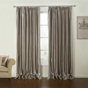 ( One Panel )  Modern Embossed Geometric Pattern Polyester Room Darkening Curtains-20
