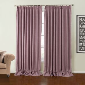 ( One Panel )  Neoclassical Embossed Purple Floral Pattern Polyester Blackout Curtain-24