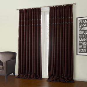 ( One Panel )  Modern Jacquard Sollid Pattern Polyester Room Darkening Curtains-34