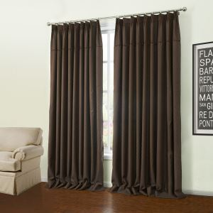 ( One Panel )  Modern Jacquard Coffee Geometric Pattern Polyester Room Darkening Curtains-40