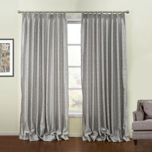 ( One Panel )  Modern Jacquard Purple Geometric Pattern Polyester Blackout Curtains-46
