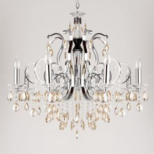 Luxuriant Crystal Chandelier with 8 Lights