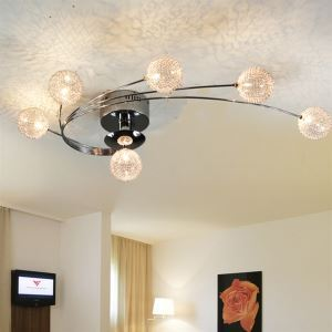 Modern Flush Ceiling Light Living Room Bedroom Lighting Idea Bulbs Included 6 Lights