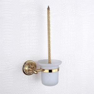 Toilet brush rack,Brass,Golden finish