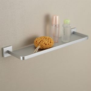 Modern Anodizing Finish Aluminum Single Layer Shelf