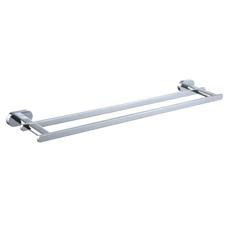Bathroom Towel Bars New Modern Chrome Colored Doulbe