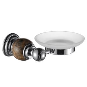 New Modern Chrome-colored Wall Mounted Soap Dish Holder Copper & Marble Soap Holder