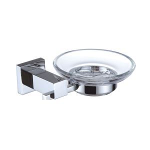 New Modern Chrome-colored Wall Mounted Round Soap Dish Holder Brass Soap Holder