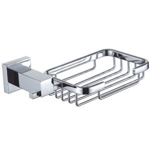 New Modern Chrome-colored Wall Mounted Rectangle Brass Soap Holder