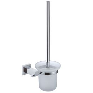 New Modern Wall Mounted Chrome-colored Brass Toilet Brush Holder