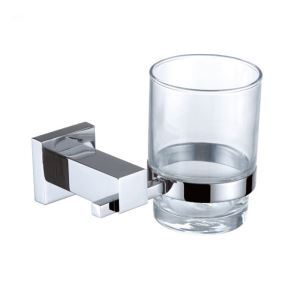 New Modern Wall Mounted Chrome-colored Toothbrush Cup Brass Toothbrush Holder