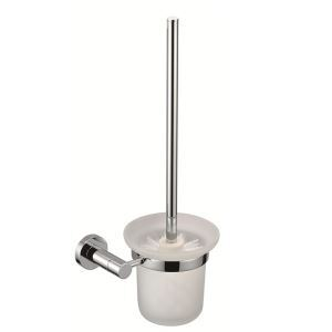 New Modern Chrome-colored Bathroom Accessories Solid Brass Toilet Brush Holder