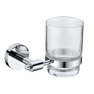 New Modern Chrome-colored Bathroom Accessories Toothbrush HolderSolid Brass Tumbler Holder