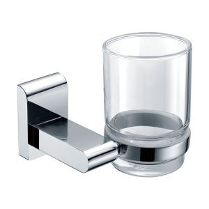 New Modern Chrome-colored Bathroom Accessories Toothbrush Holder Solid Brass Tumbler Holder