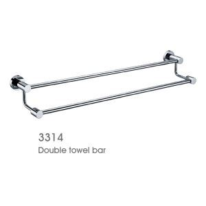 New Modern Chrome finish Solid Brass Double Towel Bar