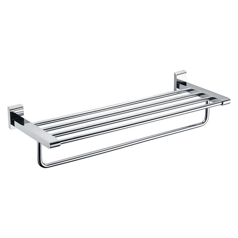 Bathroom Towel Bars New Modern Chrome Finish Solid Brass Bathroom Shelf With Towel Bar