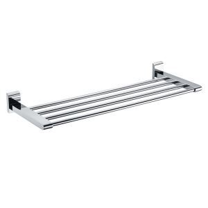 New Modern Chrome finish Solid Brass Bathroom Shelf With Towel Bar