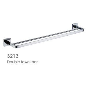 Chrome Solid Brass 24 Inch Double Towel Bar