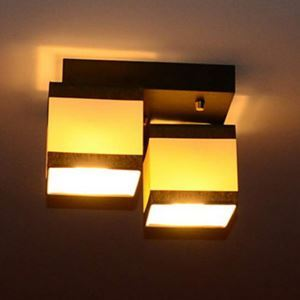 Modern Contemporary 40W Flush Mount 2-light Ceiling Light with Fabric Shade