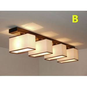 Modern Contemporary 60W Flush Mount 4-light Ceiling Light with Fabric Shade