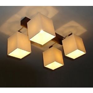 Modern Contemporary 40W Flush Mount 4-light Ceiling Light with Fabric Shade