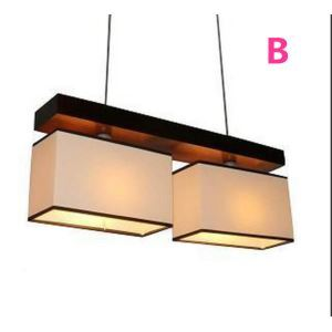 Modern E12/E14 Contemporary 2-light ceiling lights  40W Pendant Light with Fabric Shade