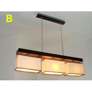 Modern E26/E27 Contemporary 3-light ceiling lights  60W Pendant Light with Fabric Shade