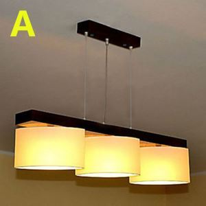 Modern E26/E27 Contemporary 3-light ceiling lights  40W Pendant Light with Fabric Shade