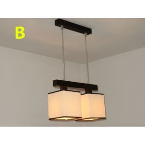 Modern E26/E27 Contemporary 2-light ceiling lights  60W Pendant Light with Fabric Shade