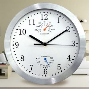 Reida Wall Clock in Stainless Steel-Modern Style