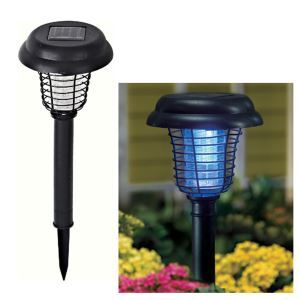 Solar Plastic Mosquito Zapper Stake Light Garden Path Lighting