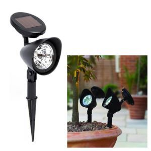 3 LED Outdoor Solar Powered Landscape Spot Light LED Yard Garden Path Lawn Lamp