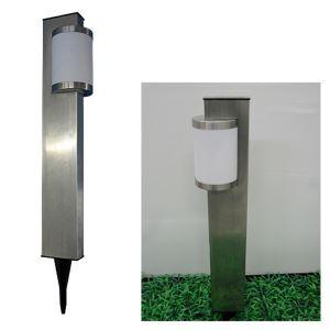 White / Warm White Solar Stainless Steel Stake Light Garden Path Lighting