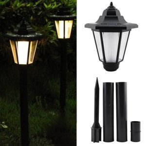 Outdoor Solar Power LED Garden Landscape Pathway Path Way Spot Warm Light Lamp
