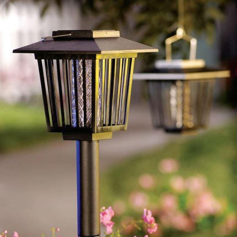 Fly Repellent Outdoor Light Black Garden Solar Lighting