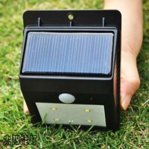 Solar Powered 4 LED PIR Sensor Outdoor Light