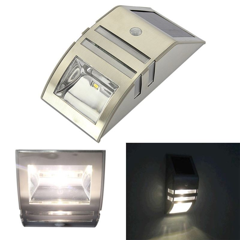 Brightest Wall Lights : Lighting - Outdoor Lighting - LED Solar Lights - Solar Motion Sensor Super Bright LED Wall Light ...
