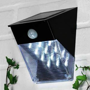 Solar Power 12 LED Motion Sensor PIR Wall Mount Garden Path Yard Door Light Lamp