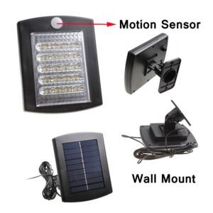 Outdoor Solar Power 36 LED Motion Sensor PIR Security Wall Path Garden Light