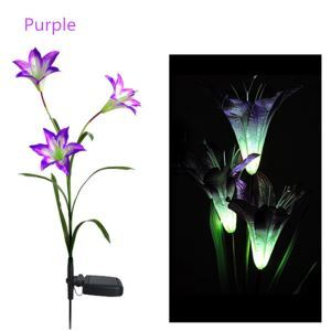 Color Changing Solar Lily Flower Stake Light