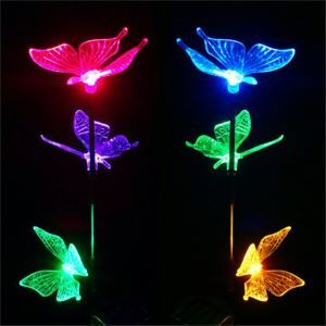 Solar Power Color Changing Garden Light Butterfly Lamp