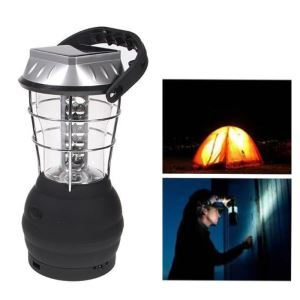 36 LED Lights Hand Crank Solar Lantern Camping Lamp with Charger