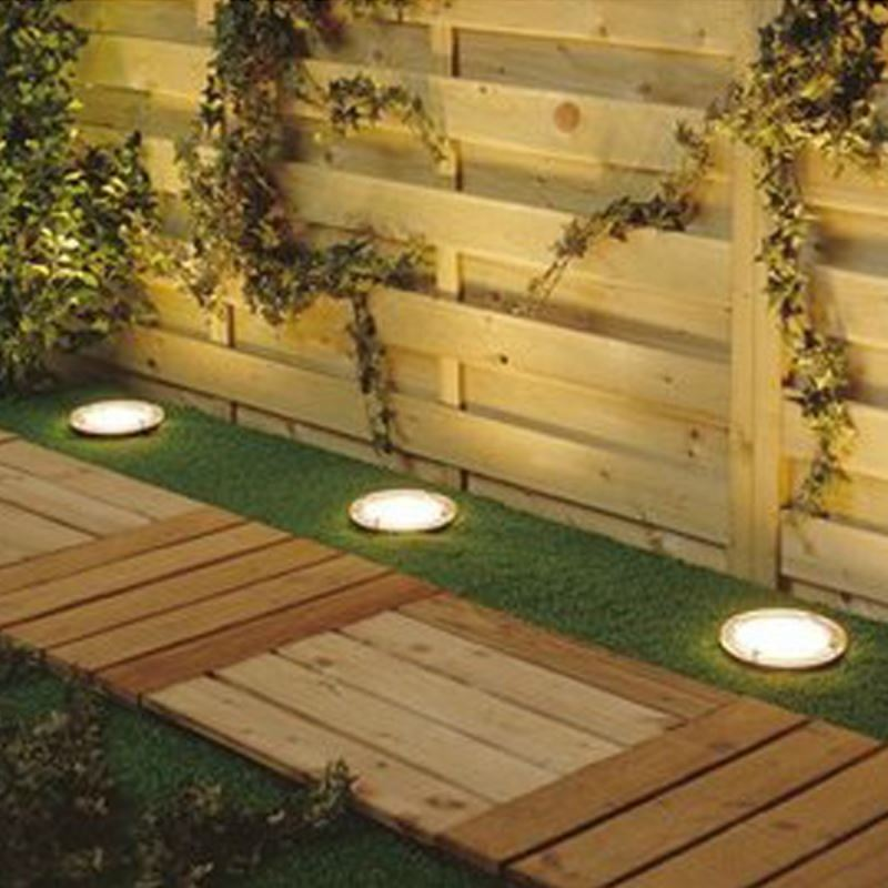Lighting Outdoor Lighting LED Solar Lights Solar Power Round Recessed D