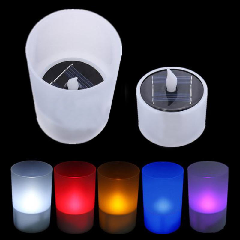 Solar Power Led Tea Light Tealight Candle Flameless