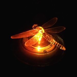 Solar Dragonfly Style RGB LED Table Lawn Lamp  Garden Light IP656