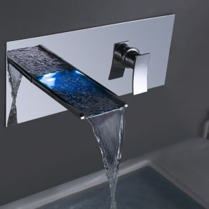 Wall Mount Bathroom Sink Faucet Bathroom Waterfall Basin Tap