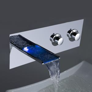Color Changing Wall Mounted LED Water Faucet