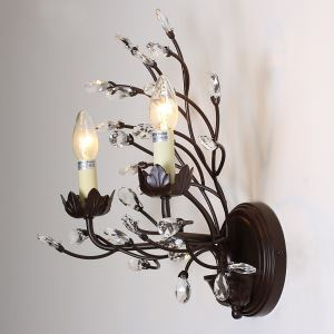 Artistic Country Style E12/E14 40W 2-light Decorative Wall Light with Branch & Candle Features